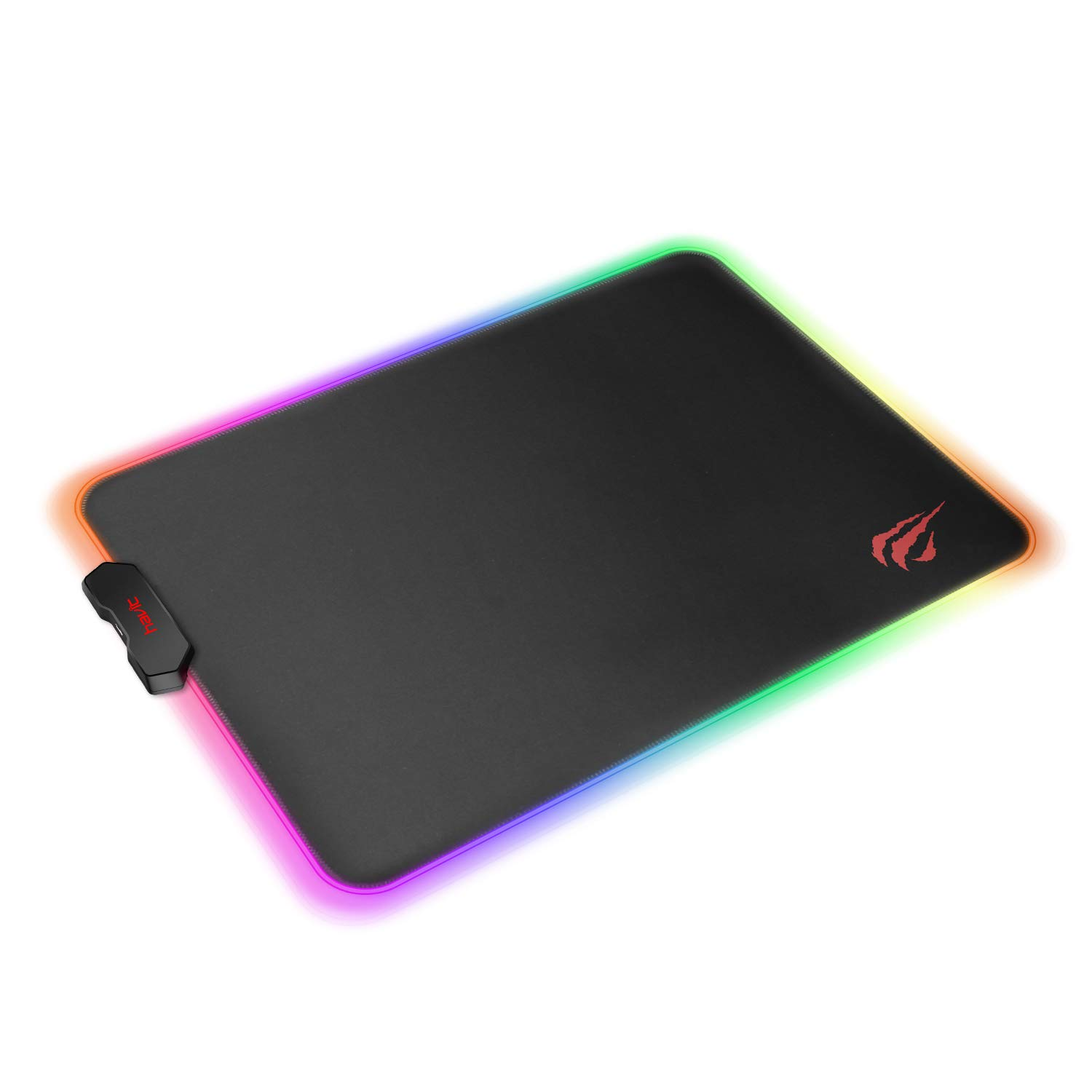 Havit RGB Gaming Mouse Pad Soft Non-Slip Rubber Base Mouse Mat for Laptop Computer PC Games (13.8 X 9.8 X 0.16 inches, Black)