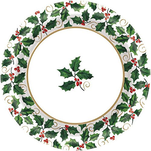 Christmas-Themed Seasonal Large Paper Plates Value Pack, 40 Ct. | Party Tableware