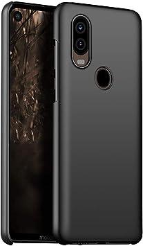1SourceTek Compatible para Funda Motorola Moto P40 Estuche Protector para Celular Delgado Minimalista Protector Anti-Rasguño de Alta Calidad para Motorola Moto P40 (Negra Liso): Amazon.es: Belleza
