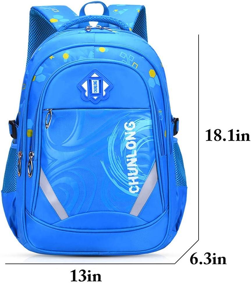 Fanspack School Bags for Boys Backpack for Boys Multi-Pocket School Backpack Boys Rucksack Casual Daypack