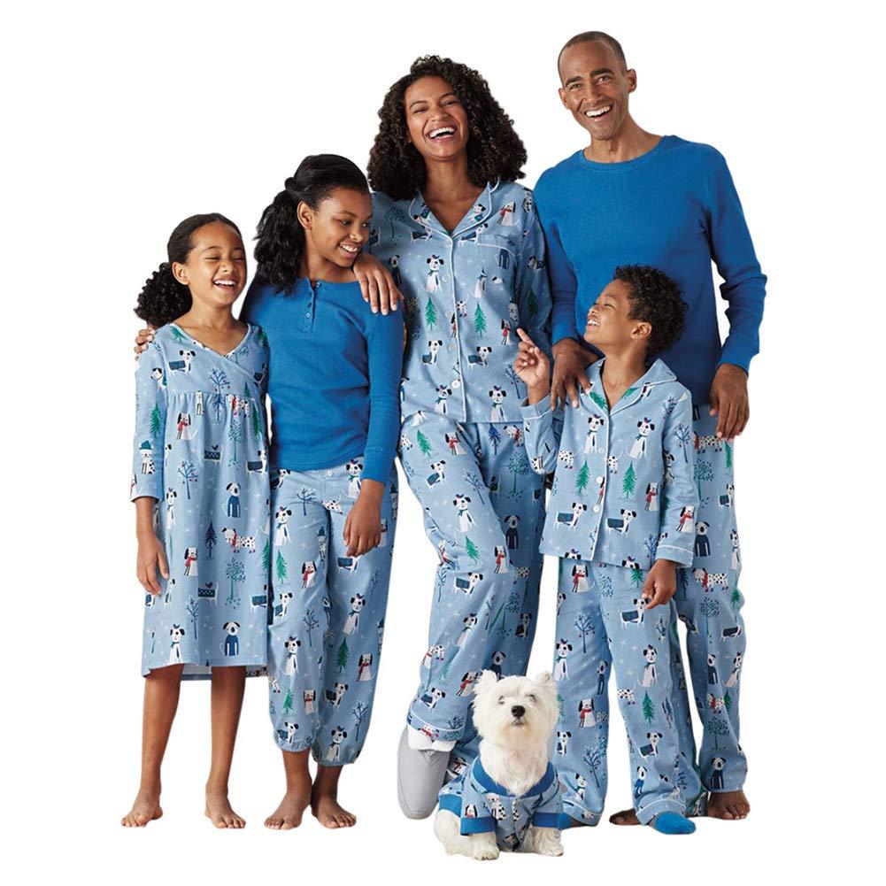 Meijunter Natale Famiglia Set da Pigiama - Daddy Mommy Ragazzi Ragazze Bambini Famiglia Matching Stampa Indumenti da Notte