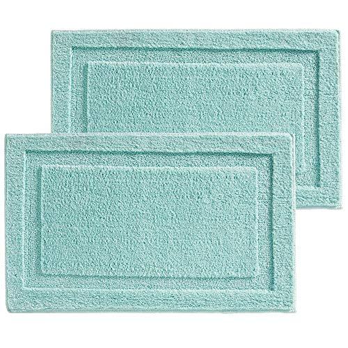- mDesign Soft Microfiber Polyester Non-Slip Rectangular Spa Mat, Plush Water Absorbent Accent Rug for Bathroom Vanity, Bathtub/Shower - Machine Washable, 34