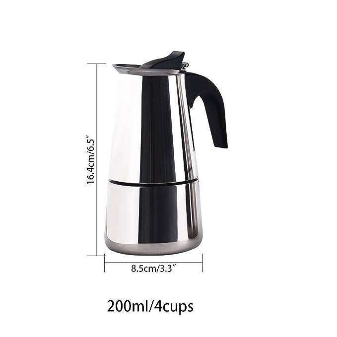 Amazon.com: 4/6/9 tazas cafetera café Espresso maker ...