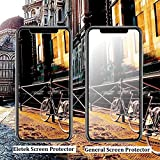 iPhone X Matte Screen Protector,Eletek Anti-Glare & Anti-Fingerprint Tempered Glass Clear Film Bubble Free Smooth Accurate Touch Ballistic Shield for iPhone X/10 [Case Friendly] [3D Touch]