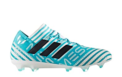 adidas Nemeziz Messi 17.1 FG Cleat Men's Soccer 6.5 White-Legend Ink-Energy  Blue