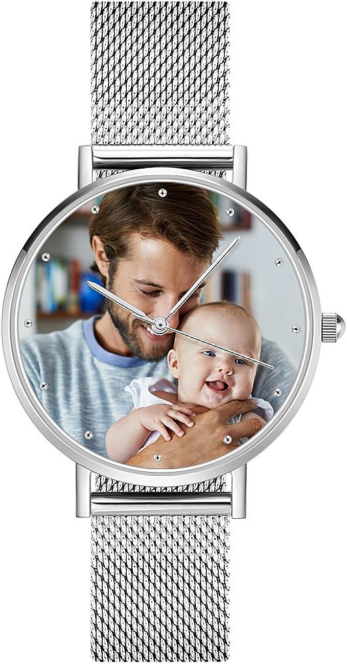 Reloj Analógico Personalizado con Foto y correa ultradelgada