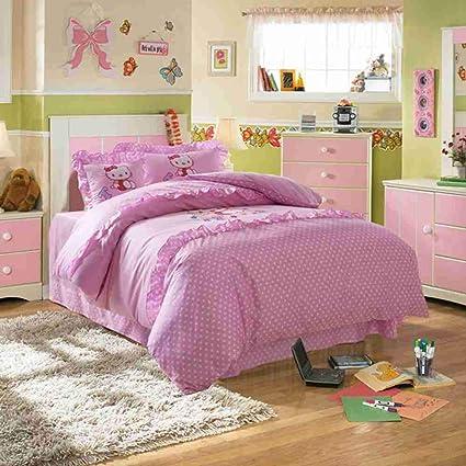 Amazon.com: Warm Embrace Kids Bedding Set 100% Cotton Girls Hello