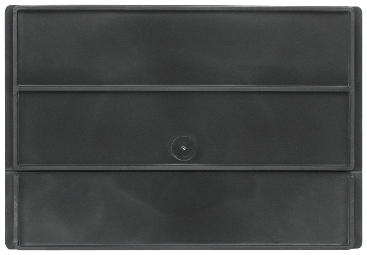 Akro-Mils 41480 Divider for 31182 and 31188 AkroDrawer Plastic Storage Drawer, Black, Pack of 6