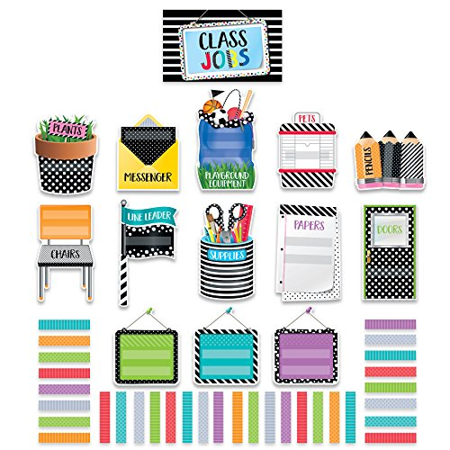 Creative Teaching Press Mini Bulletin Board Bold & Bright Class Jobs (2184)