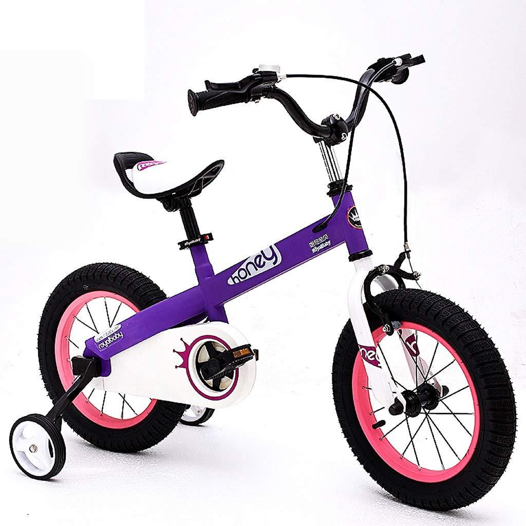 子供の自転車 ファッション子供の屋外自転車 子供のおもちゃの自転車 屋外の遠足ツアー自転車 210歳の人格の少年少女屋外自転車 (Color : Purple, Size : 18 inches) 18 inches Purple B07Q7Q7SCX