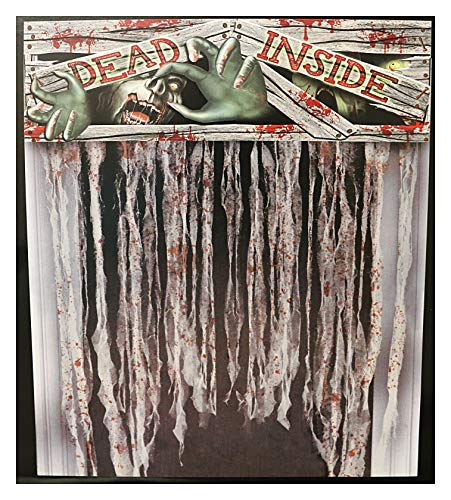 Fright Night Halloween Dead Inside Zombie Bloody Door Curtain Party Decoration