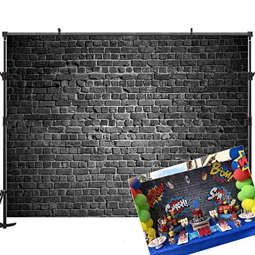 Allenjoy 7x5ft Black Brick Backdrop Brick Backdrops for Photography Birthday Party Decoration Backdrop for Pictures Photography Props Brick Backdrops