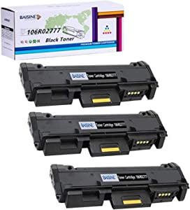 Compatible 106R02777 Black Toner Cartridge Replacement for Xerox 3215 106R02777 Toner, Worked for Xerox Phaser 3260DNI 3260DI 3260 3052 WorkCentre 3215NI 3225DNI 3225 3215 - by BAISINE (3PK x Black)