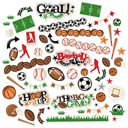 Paper Die Cuts - Sports Life - Over 60 Cardstock Scrapbook Die Cuts - by Miss Kate Cuttables