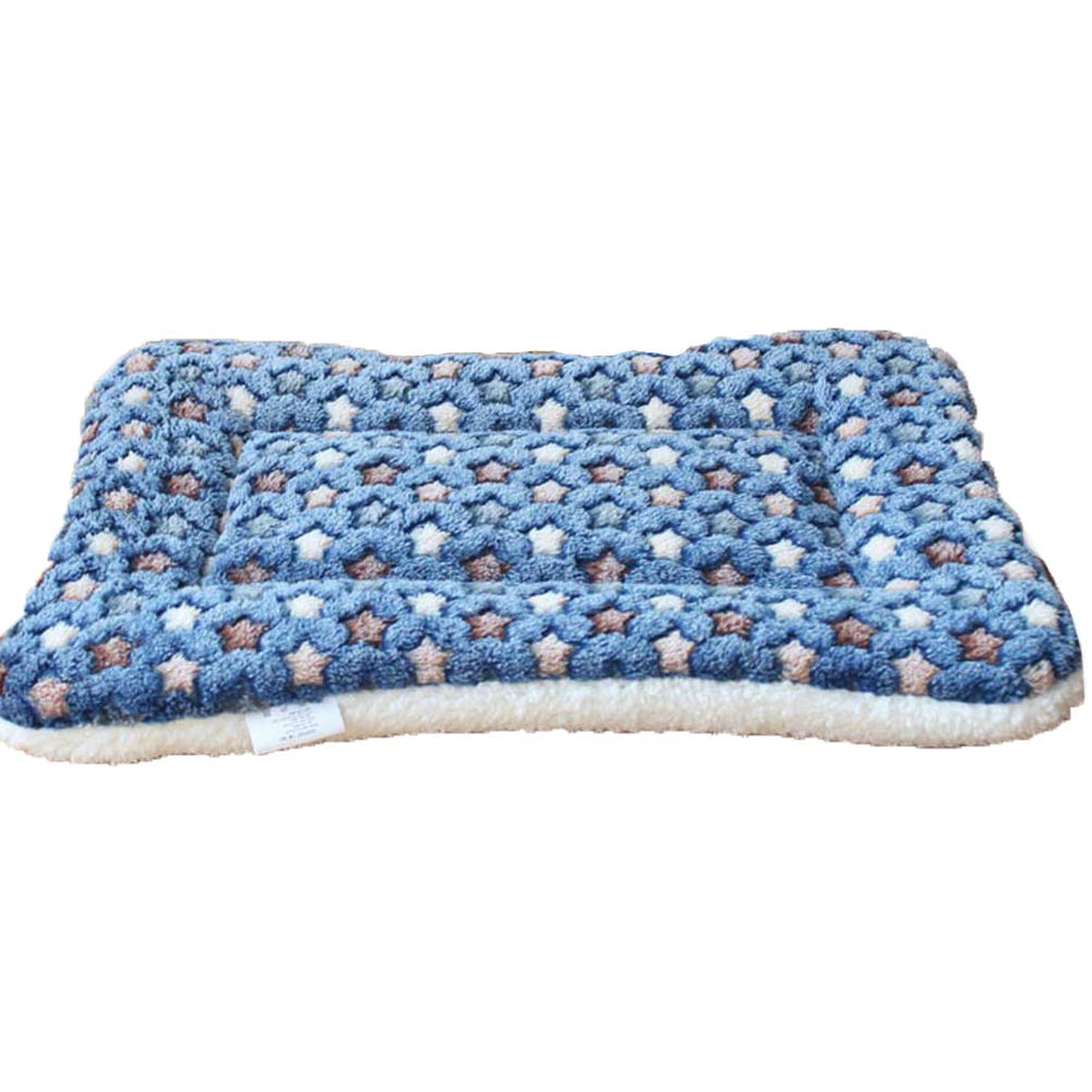 bluee M bluee M Jim Hugh Warm Soft Fleece Pet Mat Travel Cat Litter Dog Blanket Puppy Cushion Pet Pad Dog Bed 5 Size for Small and Large Dogs