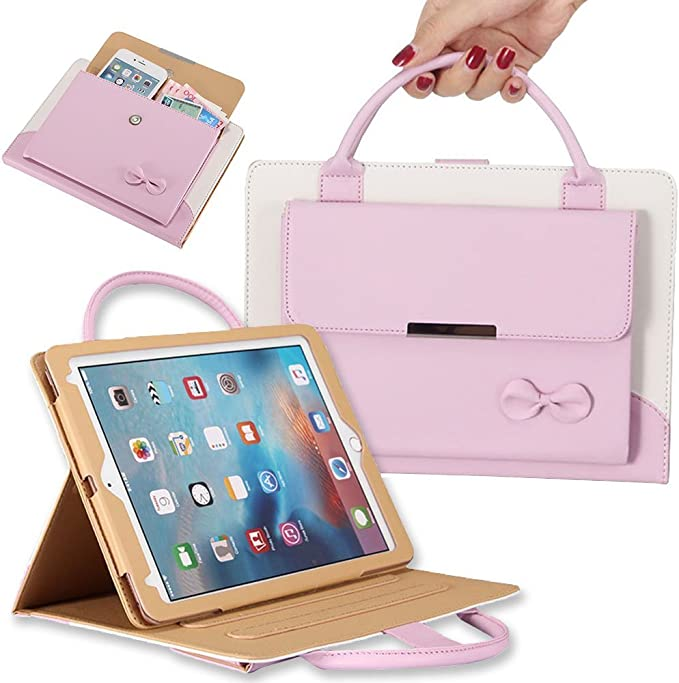 - Pink Jennyfly 2020 12.9 inch iPad Case Hands-Free Stand Handbag Cover Full Protective Business Case Corner Protection Smart Cover with Auto Sleep//Wake Feature for 2020 New iPad Pro 12.9 4th Gen