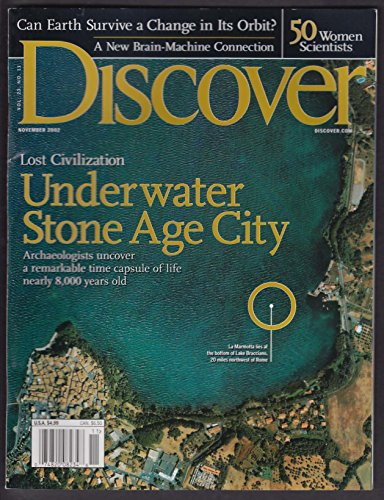 DISCOVER Stone Age La Marmotta; 50 women scientists; earth orbit 11 2002