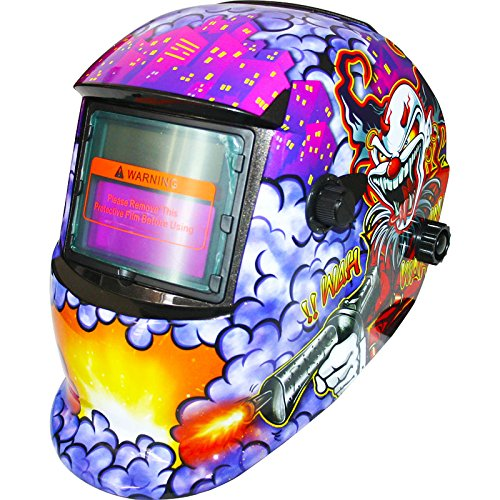 Skull Auto Darkening Welding Helmets CE Approved Solar Powered Grinding Function Adjustable Headband Welder Mask With Lens and Bag