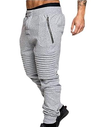 securiuu Pantalones de Correr con cordón para Hombre, Cintura ...