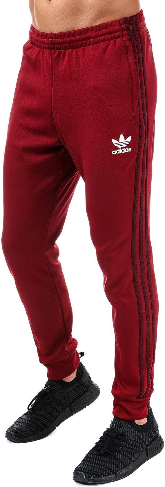 pantaloni tuta adidas rossi uomo