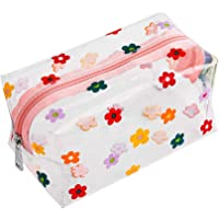 Cute Crystal Clear Cosmetic Bags, Travel Toiletry Clear Makeup Bags, Portable Makeup Brushes Kit Storage Bag, Waterproof…