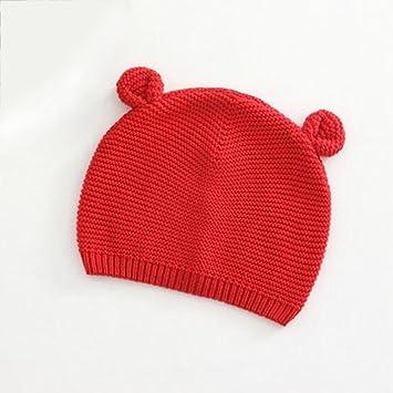 1a27a2025de Cute Baby Girl Boy Winter Warm Bear Shape Knitted Hat Cap