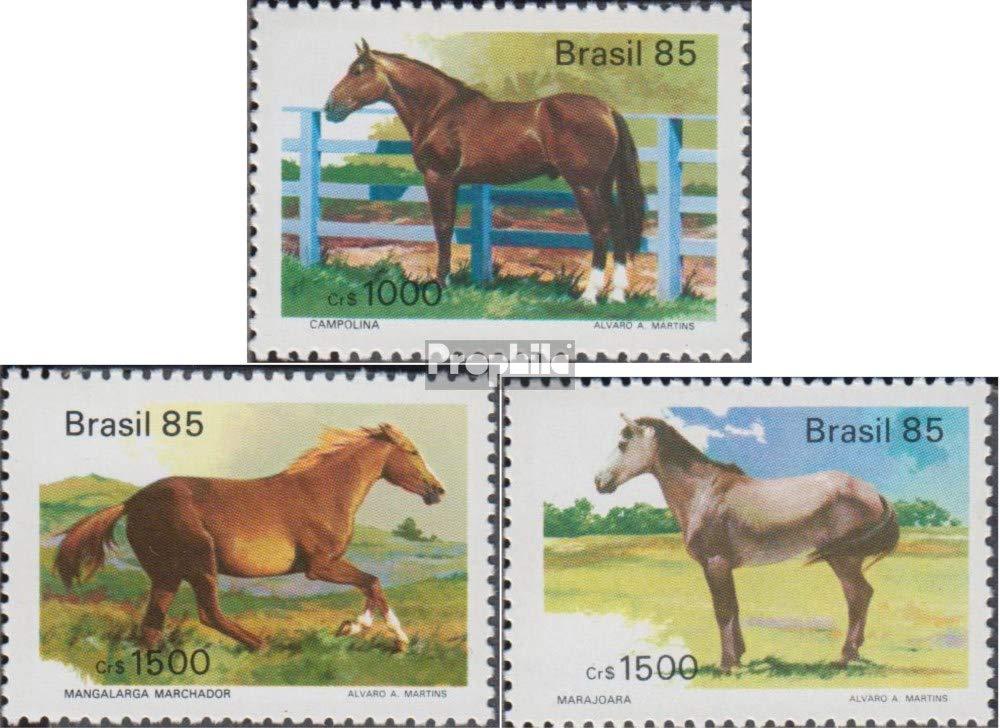 Prophila Collection Brasilien 2097-2099 Pferde 1985 Pferderassen kompl.Ausg. Briefmarken f/ür Sammler