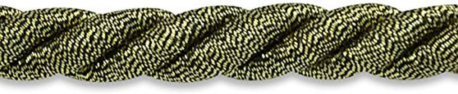 Expo International 20-Yard Holly Twisted Cord Trim Embellishment Antique Gold 3//8-Inch