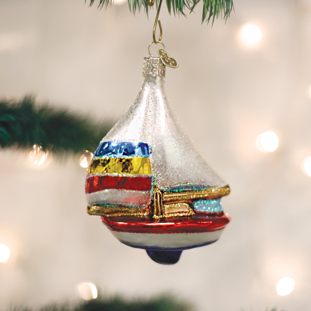Amazon: Old World Christmas Sailboat Glass Blown Ornament: Home &  Kitchen