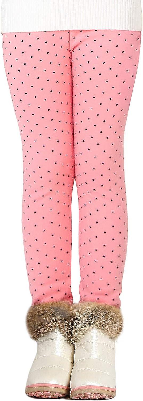 Adorel Legging Polaire Chaud Hiver Uni Coton Fille