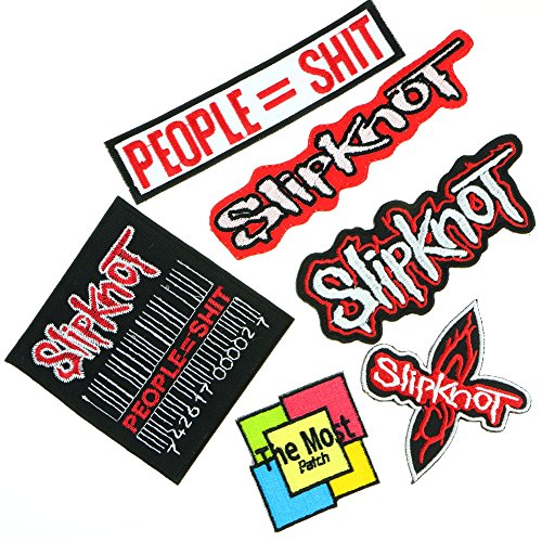 10 Most Popular Christmas Songs - Lot of 6 Slipknot People = Shit Harley Rider Biker Punk Heavy Metal Hard Rock Tatto Embroidered Iron / Sew On Patch