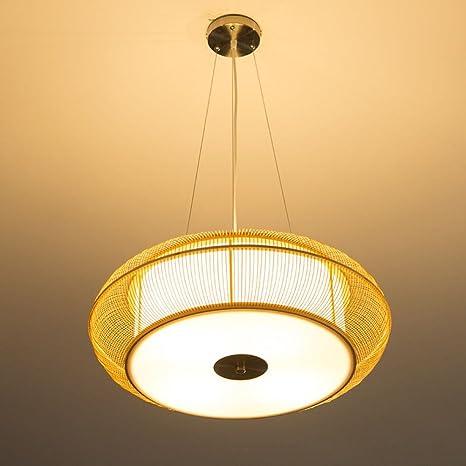 yupx lámpara lámparas hechas a mano de arte de bambú ...