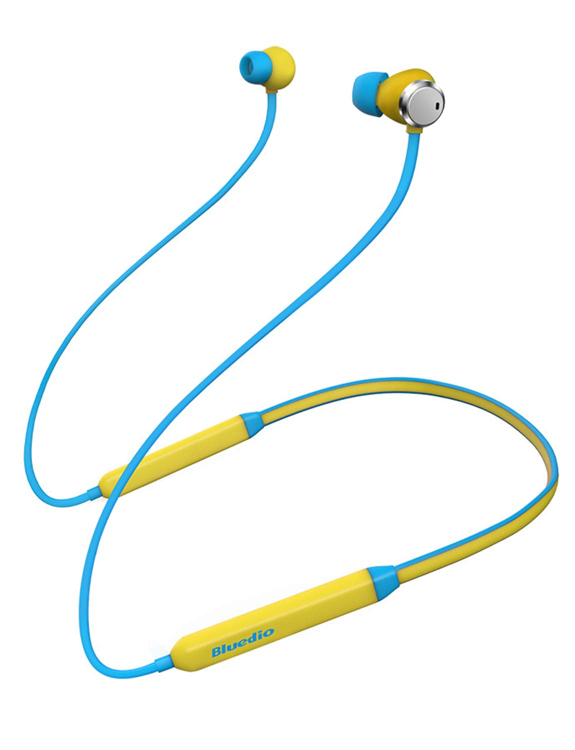 Bluedio TN (Turbine) Active Noise Cancelling Earbuds Neckband Earphones, Bluetooth 4.2 Wireless Sports Headphones Headsets,Magnetic Sweatproof Running Earbuds with Mic Magnetic Design (Yellow)