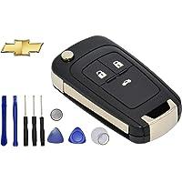 YL TRD 3 Botones Carcasa Control Clave Autos para Chevrolet Cruze Sonic
