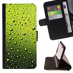 Momo Phone Case / Flip Funda de Cuero Case Cover - AGUA VERDE GOTAS DE CERVEZA - Sony Xperia M2