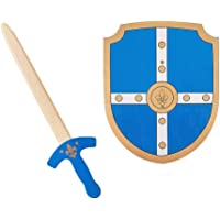 Wooden Sword and Shield Toy Play Set