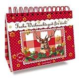 Postkarten-Aufstellbuch: Frohe Weihnachtszeit für dich!