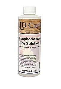 LD Carlson Phosphoric Acid 10% Solution, 8 oz. for Beer Making