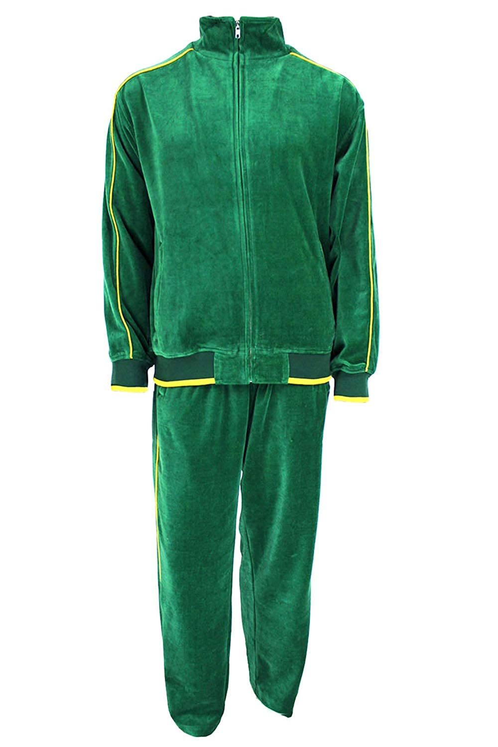 70s Workout Clothes | 80s Tracksuits, Running Shorts, Leotards Sweatsedo Mens Velour Tracksuit $129.00 AT vintagedancer.com