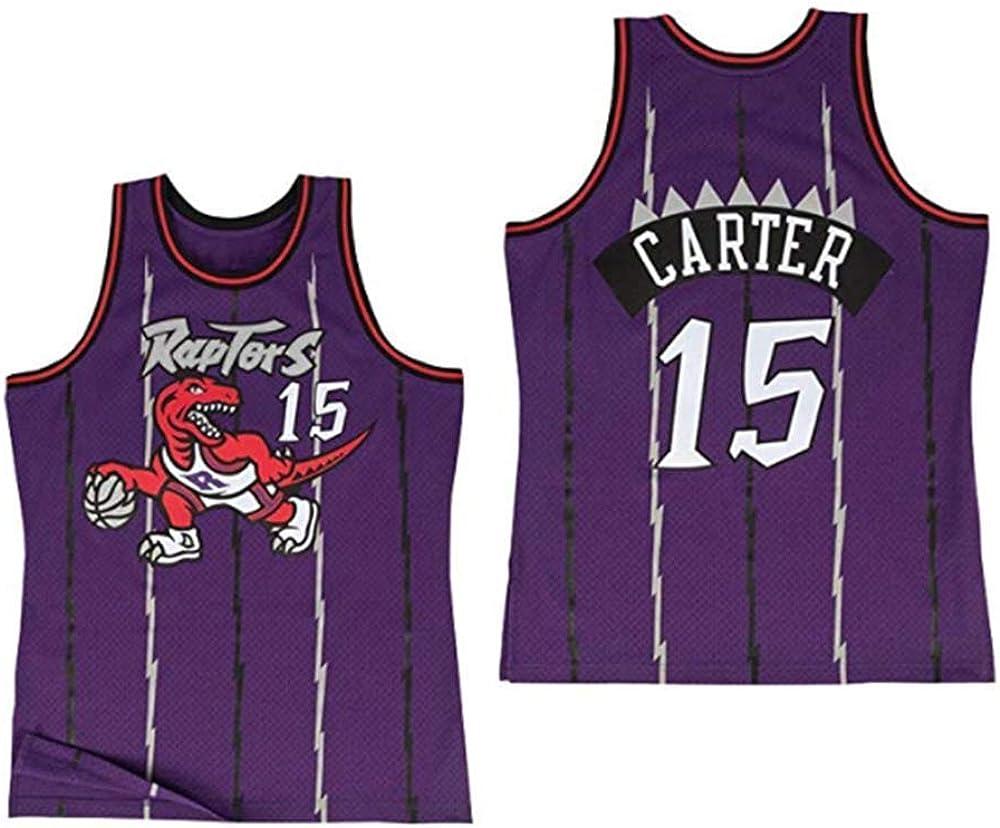 NBA Toronto Raptors 15# Vince Carter Vintage All-Star Jersey Camiseta de Camiseta de Pantalones Cortos de Baloncesto para Hombre y Unisex Tela Fresca y Transpirable