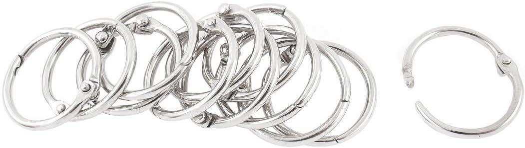 Meprotal 10 Packs 3 Rings Metal Book Rings with 20mm ID Loose Leaf Binders Book Rings Snap Split Hinged for DIY Photo Album Black Calendar Binding Spines Combs