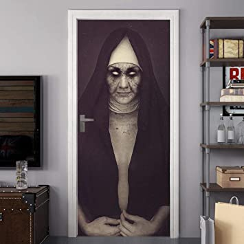 WWMTH Mural De Vinilo Autoadhesivo 3D Monja De Terror De Halloween ...