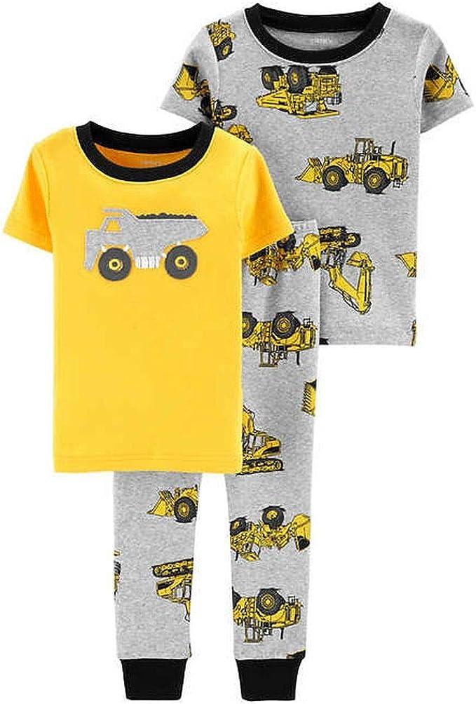 New Carter/'s Boys Fleece Cotton Pajama 3pc Set 7,8 Construction