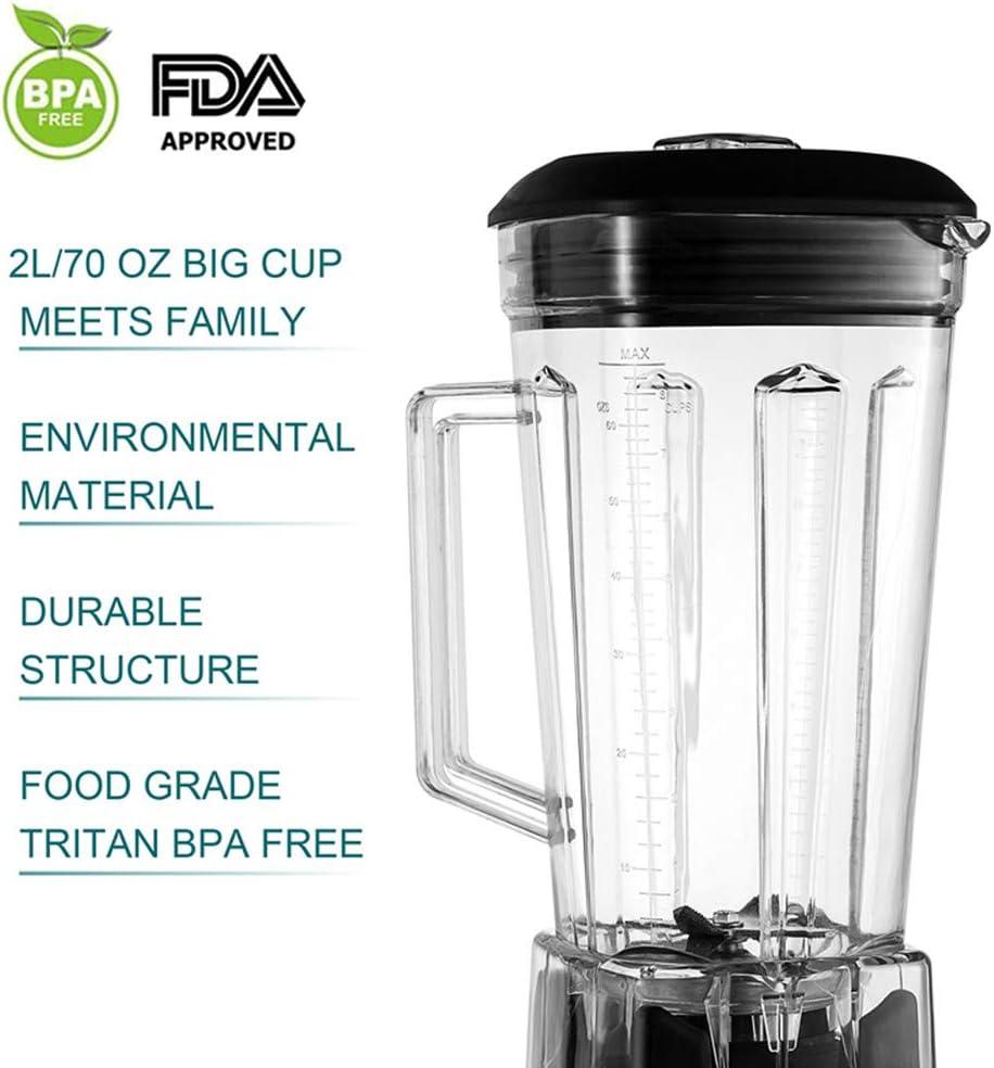 Addwin Batidora de Vaso Licuadora Comercial Profesional 2L 100% Libre de BPA con 2200W de Potencia, Tecnología Total ...