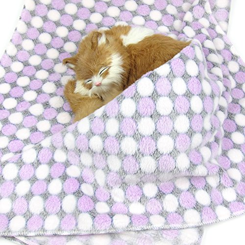 Alfie Pet by Petoga Couture – Zuri Fleece Blanket for Dogs and Cats – Color: Purple, Size: Medium