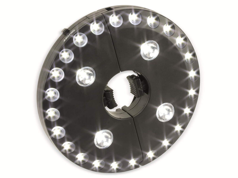 LED-Sonnenschirmbeleuchtung schwarz WS-9812