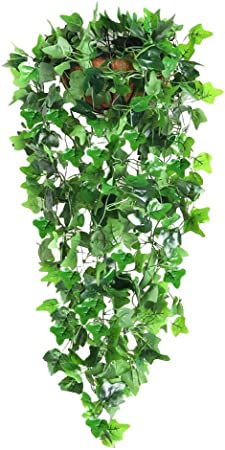 GOHHK Decoración Plantas Colgantes Artificiales Hojas Vid Hiedra Falsas para Pared Jardín la casa Guirnalda Bodas Decoración Exterior Plantas Colgantes Artificiales (2 Piezas): Amazon.es: Hogar