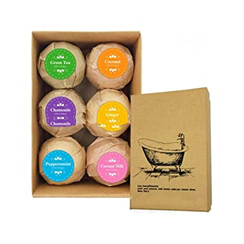 Amazon 6 Pack Bath Bombs Gift Set 18 Family Spa Fizzies Bomb With Natural Essential Oils Ball Moisturize Dry Skin Best Handmade Birthday Gifts For