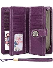Women's Wallets, Large Capacity with RFID Blocking, Genuine Leather by SENDEFN