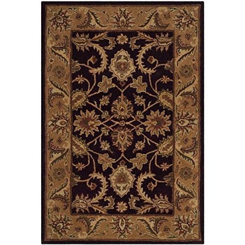 Safavieh Classic Collection CL244B Handmade Traditional Oriental Dark Plum and Gold Wool Area Rug (4' x (Plum 4x6 Area)